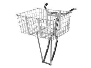 Wald 157 Giant Delivery Front Handlebar Bike Basket (Silver)