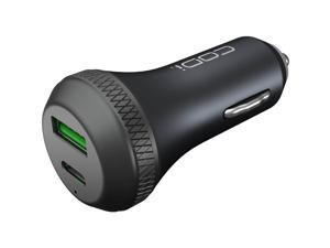 Codi Dual Car Charger with USB-C & Quick Charge 3.0 - 18 W Output Power - 12 V DC, 24 V DC Input Voltage - 5 V DC, 9 V DC, 12 V DC Output Voltage - 3 A Output Current - USB