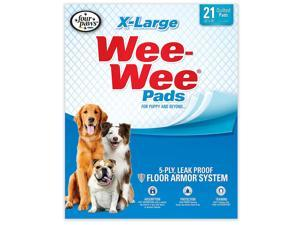 FOUR PAWS 100513822 White FOUR PAWS WEE-WEE PADS 21 PACK EXTRA LARGE WHITE 28 X 34 X 0.1