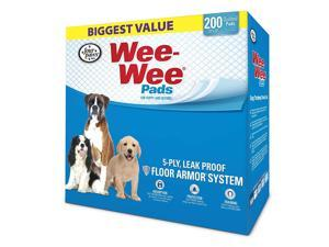 FOUR PAWS 100534716 White FOUR PAWS WEE-WEE PADS 200 PACK WHITE 22 X 23 X 0.1