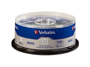 VERBATIM AMERICAS LLC 98914 VERBATIM, M-DISC BDXL 100GB 4X WITH BRANDED, SURFACE - 25/PK SPINDLE