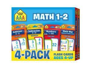 School Zone Math 1-2 Flash Cards 4 Pk 04046
