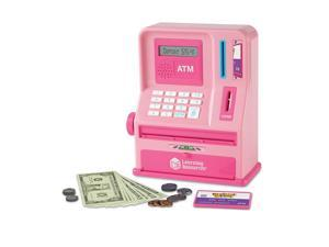 LEARNING RESOURCES PRETEND AND PLAY ATM BANK PINK 2625P