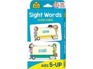 SCHOOL ZONE PUBLISHING BEGINNING SIGHT WORDS FLASH CARDS 04002