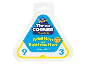 Addition/Subtraction Three-Corner Flash Cards, 6 and Up, 48/Set T1670