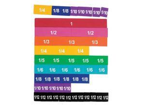 LEARNING RESOURCES LER0611 SOFT FOAM MAGNETIC RAINBOW FRACTION-TILES