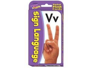 TREND ENTERPRISES T-23016 POCKET FLASH CARDS SIGN LANGUAGE-3 X 5 56 TWO-SIDED CARDS