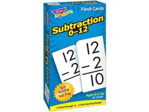 Skill Drill Flash Cards, 3 x 6, Subtraction T53103