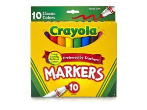 Crayola Non-Washable Markers Broad Point Classic Colors 10/Set 587722