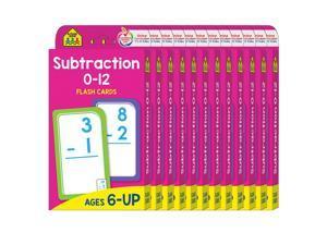(12 Pk) Subtraction 0-12 Flash Crds