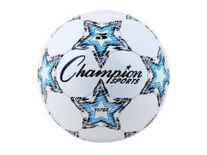 """VIPER Soccer Ball, Size 5, 8 1/2""""- 9"""" dia., White VIPER5"""