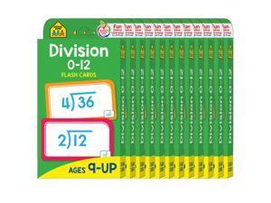 (12 Pk) Division 0-12 Flash Cards