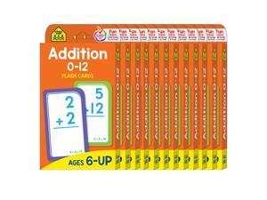 (12 Pk) Addition 0-12 Flash Cards