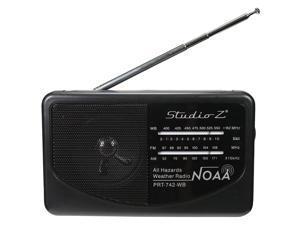 NIPPON PRT-742-WB Studio Z AM/FM/Weatherband 3 Band World Radio Receiver