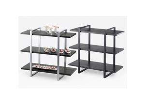 28W x 12D x 24H 3 Shelf Metal Frame Riser Silver 1 Ct
