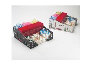 12W x 12D x 5.25H Squared Condiment Organizer Black 1 Ct