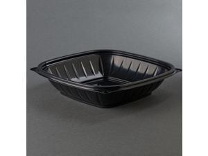 32 Oz Black Microwaveable Plastic Square Bowls 252 CT