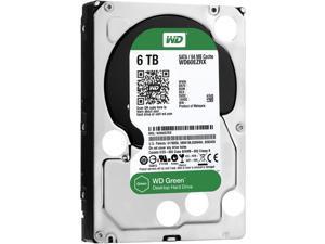 """WD WD60EZRX Green Desktop WD60EZRX 6 TB Hard Drive - 3.5"""" Internal - SATA (SATA/600)"""