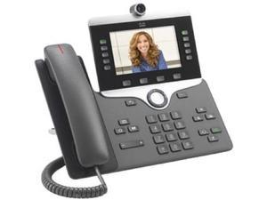 Cisco CP-8845-K9= 8845 IP Phone - Corded/Cordless - Corded - Bluetooth - Wall Mountable - Charcoal