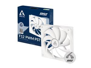 ARCTIC ACFAN00198A F12 PWM PST - 120 mm PWM PST Case Fan with PWM Sharing Technology (PST), Quiet Motor, Computer, Fan Speed: 230-1350 RPM - White