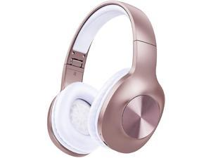 LETSCOM H10 ROSE GOLD  Bluetooth 5.0 Headphones Over Ear with Deep bass, Hi-Fi Sound and Soft Earpads, Built-in Mic