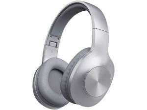 LETSCOM H10 SILVER Bluetooth 5.0 Headphones Over Ear with Deep bass, Hi-Fi Sound and Soft Earpads, Built-in Mic