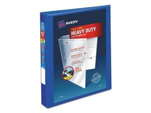 """Avery Heavy-Duty View 3 Ring Binder, 1"""" One Touch EZD Ring, Holds 8.5"""" x 11"""" Paper, Pacific Blue (79772)"""