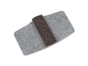 Wrap Around Felt Floor Savers, 7 1/4 x 1 x 8, Gray/Black, 16/Pack