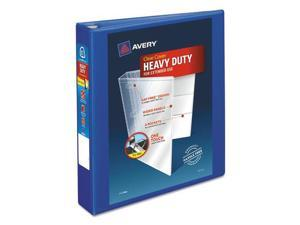 """Heavy-Duty View Binder w/Locking EZD Rings, 1 1/2"""" Cap, Pacific Blue AVE79775"""