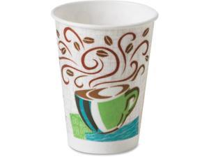 Dixie PerfecTouch Coffee Haze Hot Cups - 50 - 16 fl oz - 1000 / Carton - Multi - Paper - Coffee, Hot Drink  DXE5356CDCT