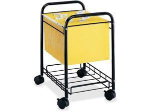 Safco Letter/Legal Desk Side File Cart 17-1/4w x 13d x 22h Black 5224BL