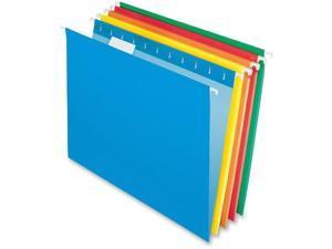 "Pendaflex 2-tone Color Hanging File Folders - Letter - 8 1/2"" x 11"" Sheet Size - 1/5 Tab Cut - 11 pt. Folder Thickness -"