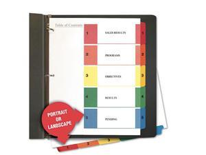 UNIVERSAL Table of Contents Dividers Assorted Color 5-Tab 1-5 Letter White 6
