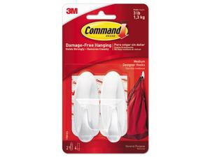 3M 17081 Command Designer Medium Hooks 2 hooks, 4 strips