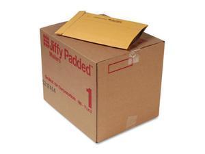 """Jiffy Mailer Jiffy Padded Mailers - Multipurpose - #1 - 7 1/4"""" Width x 12"""" Length - Flap - Kraft - 100 / Carton - Natura"""