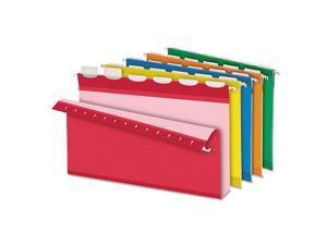 "Pendaflex Ready-Tab Hanging File Folders 2"" Capacity 1/6 Tab Legal Assorted 20"