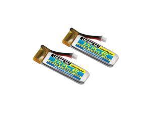 COMMON SENSE RC Lectron Pro 3.7V 175mAh 45C Lipo Battery for Blade 70S, 2-Pack