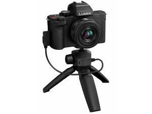 Panasonic Lumix DC-G100 Camera Black with G Vario 12-32mm Lens & Tripod/Grip