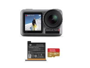DJI Osmo Action 4K HDR Camera - Bundle With Extra Battery, and 32GB Memory Card