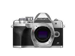 Olympus OM-D E-M10 Mark IV Camera Body, Silver #V207130SU000