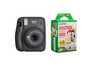 Fujifilm Instax Mini 11 Instant Film Camera, Charcoal Gray W/instax mini Twin PC