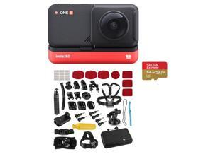 Insta360 ONE R Dual Lens 360 Module with 64GB MicroSD Card, Sport Accessory Set