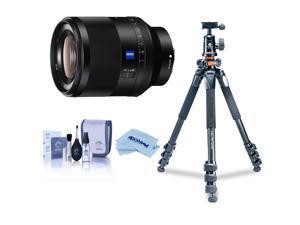 Sony Planar T* FE 50mm F1.4 ZA Lens W/Vanguard Alta Pro 264AT Tripod Bundle