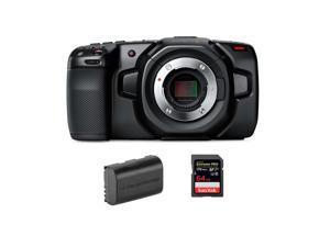 Blackmagic Design Pocket Cinema Camera 4K W/64GB SDXC Memory Card /Spare Battery