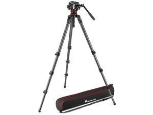 Manfrotto 504X Fluid Video Head with 536 CF Single Leg Tripod #MVK504XCTALL