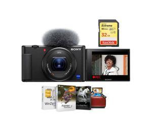 Sony ZV-1 Compact 4K HD Camera With Free 32GB SDHC U3 Card, Mac Software Package