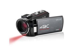 """Minolta MN4K20NV 4K Ultra HD 3"""" Touchscreen Camcorder with Night Vision"""