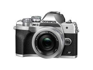 Olympus OM-D E-M10 Mark IV Camera with ED 14-42mm F3.5-5.6 EZ Lens, Silver