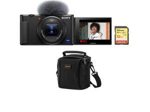Sony ZV-1 Compact 4K HD Camera - With Free Shoulder Bag, 32GB SDHC Memory Card