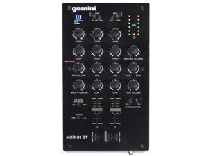 Gemini MXR-01BT 2-Channel Professional DJ Mixer with Wireless Bluetooth